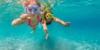 Kinder tauchen auf Bali